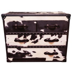 Wild Black and White Cowhide Medium High Chest
