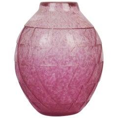 Art Deco Glass Vase by Degué