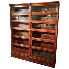 Original Mahogany Globe Wernicke Bookcase in Perfect Condition