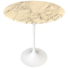 Knoll Studio Saarinen Pedestal Collection Marble Side Table