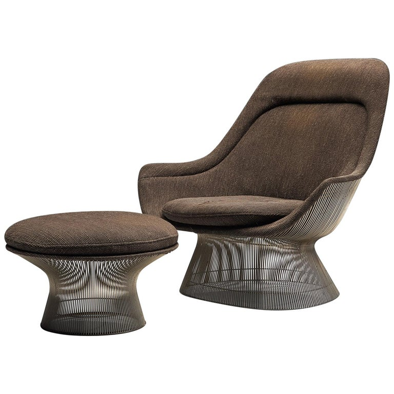 Warren Platner for Knoll Easy Chair and Ottoman