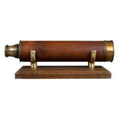 Antique Telescope, Dollond, Three Draw, Terrestrial, Astronomica, circa 1830