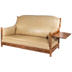 Arts & Crafts Cotswold School Brown Oak Two-Seat Sofa