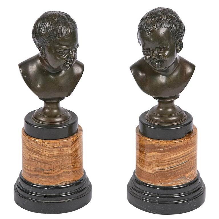 19th Century Pair of Bronze Figural Sculptures For Sale
