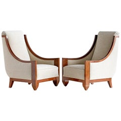 Important Pair of André Sornay Armchairs, France, Late 1920s