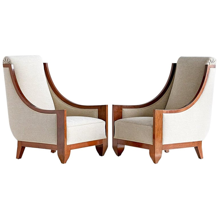 Important Pair of André Sornay Armchairs, France, Late 1920s For Sale