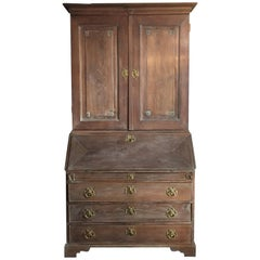 18th Century Gustavian Period Swedish Limed Elm Bureau Bookcase Superb Condition