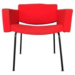 Splendid Red Pierre Guariche Council Armchairs for Meurop, 1960s
