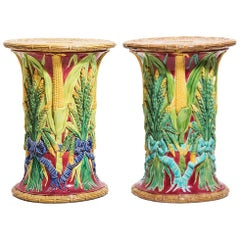 19th Century English Majolica Garden Seats
