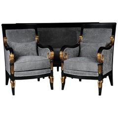 20th Century French Empire Salon Garniture Living Room Set