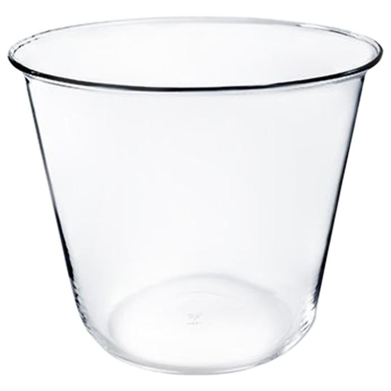 Campana Small Vase or Ice Bucket in Glass Blown in a Mold Designed by Aldo Cibic