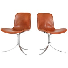 Pair of PK-9 Chairs by Poul Kjaerholm for E.Kold Christensen, 1960s