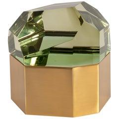 Roberto Giulio Rida Chartreuse 'Diamante Murano' Glass Box, Italy, 2017