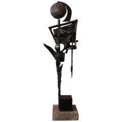 """Bronze sculpture """"Energie Hermaphrodite"""" by Emmée Parizot"""