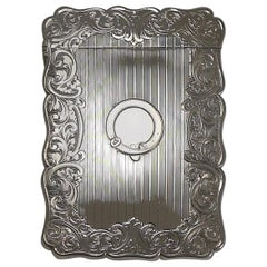Antique English Sterling Silver Card Case, 1857