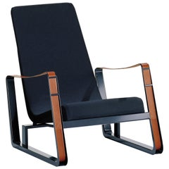 Vitra Cité Armchair in Black Upholstery by Jean Prouvé