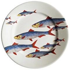 Piero Fornasetti Fish Plate, Passata de pesce 'Passage of Fish', circa 1950s