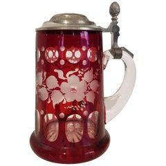 Art Deco Bavarian Crystal Mug