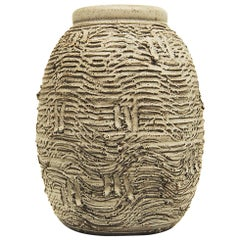 Early Design Technics Pottery Vase