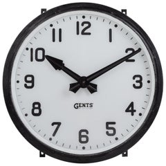 Gents of Leicester Railway Station Clock, England, circa 1920
