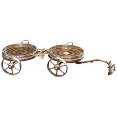 English Silverplate Wine Trolley