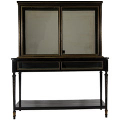 Late 19th Century Louis XVI Style Ebonized Display Cabinet