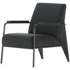 Vitra Fauteuil de Salon Armchair in Black by Jean Prouvé