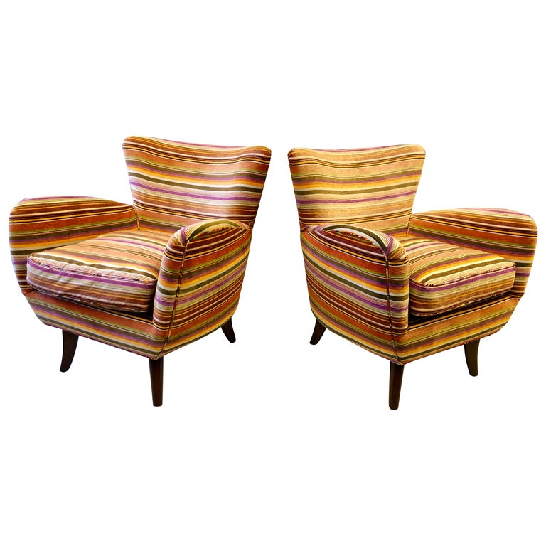 Pair of Ernst Schwadron Club Chairs For Sale