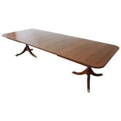 Kindel Furniture Banded Edge Formal Mahogany Extension Dining Table