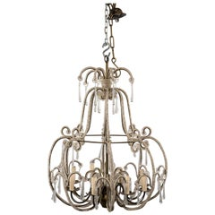 All Beaded French Style Eight-Light Chandelier