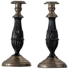 Pair of Chic Empire Candlesticks, circa 1810