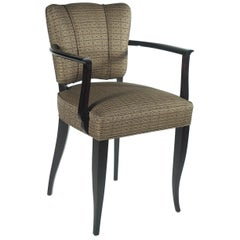 Eugene Printz Pair of Ebonized Armchairs