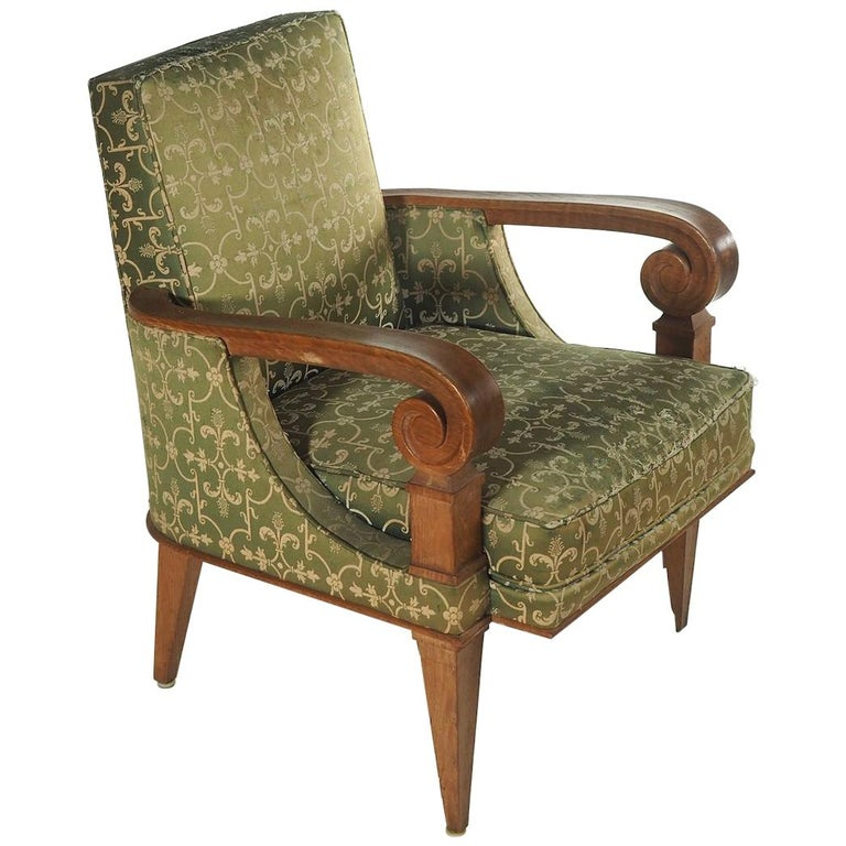 Attributed to Jean Pascaud, Pair of Armchairs