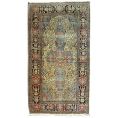 Antique Mohtasham Kashan Rug