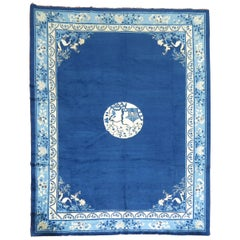 Antique Chinese Blue Peking Rug