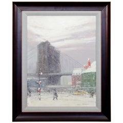 Midcentury Johann Berthelsen Framed Signed Impressionist Painting on Board