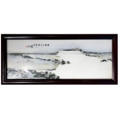 Chinese Zen Extraordinary Natural Stone Painting, One-of-a- Kind