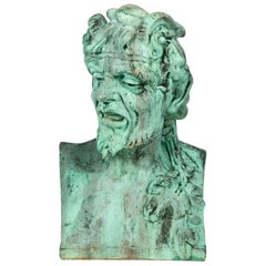 Fiberglass Bust of Pan