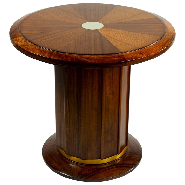 Dominique Modernist Rosewood Side Table For Sale