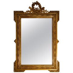 19th Century Italian Louis XIV Gold Gilt Quiver Mirror