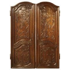 Pair of Unusual 18th Century French Oak Fleur-de-Lys Doors