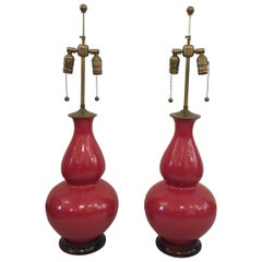 "Pair of Christopher Spitzmiller Early ""Aurora"" Lamps, Signed"
