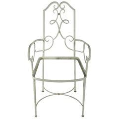 René Prou Set of 4 Lacquered Armchairs