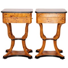 Pair of Late 19th-Early 20th Century Biedermeier Work Tables
