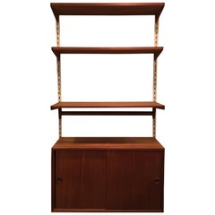 Danish Teak Adjustable Shelving System