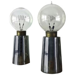 Rare California Design Line Bill Curry Pick-Up Lite Table Lamps Chrome Design