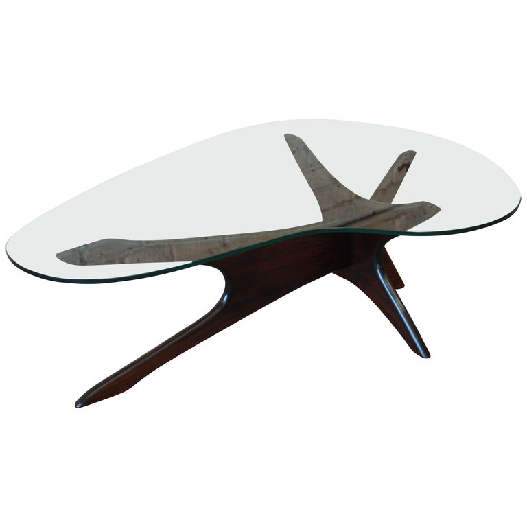 Adrian Pearsall for Craft Associates Sculpted Walnut Coffee Table