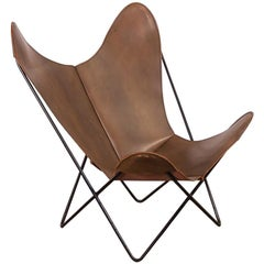 Tabacco Leather Hardoy Butterfly Chair