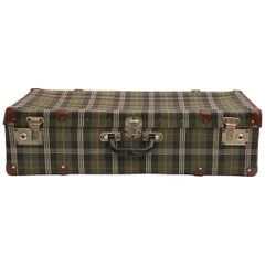Spanish Green Plaid Twill Suitcase