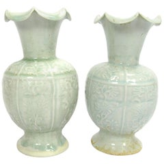 Set of Two Early 20th Century Celadon Vases